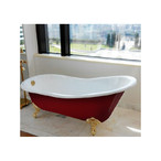 Ванна чугунная  Magliezza  Gracia Red 170x76 ножки белые